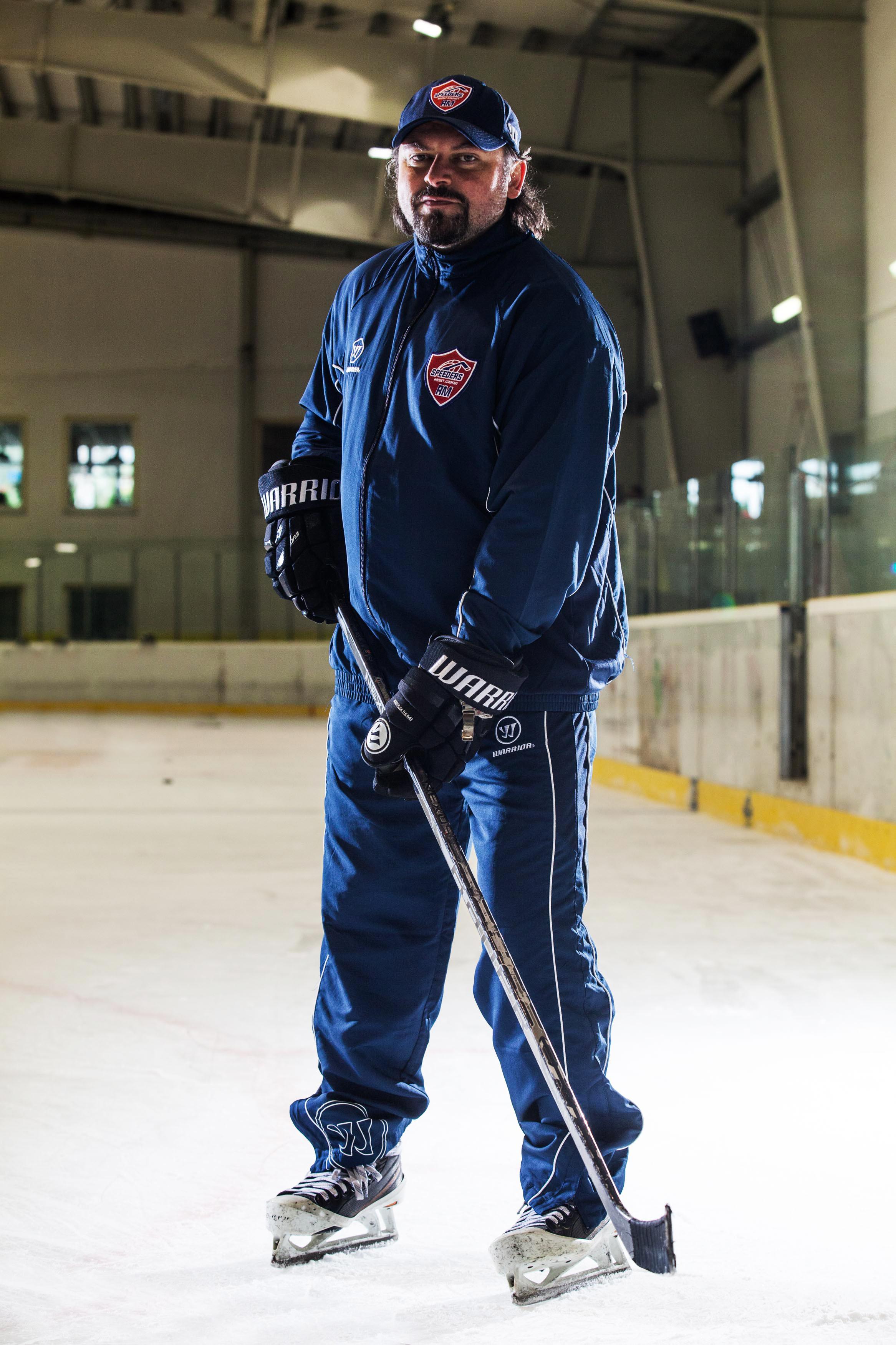 Roman Mega speeders bratislava trener hokejovy postoj