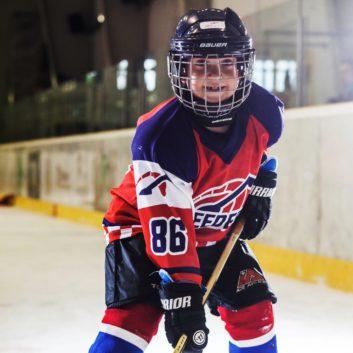 Adrian Zlejsi Speeders Bratislava hokejovy postoj