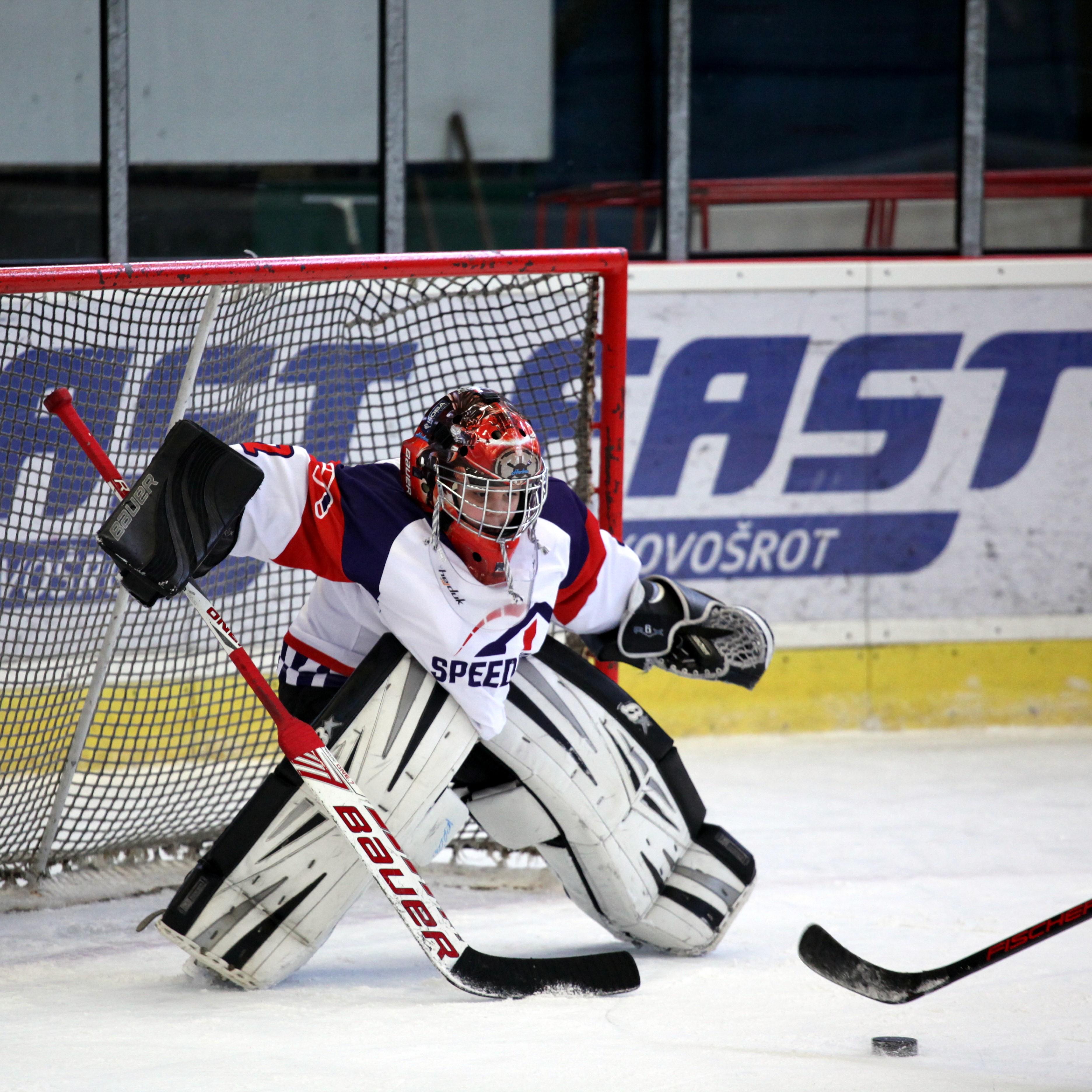 Hockey Speeders Bratislava turnaj Milevsko Brankar2