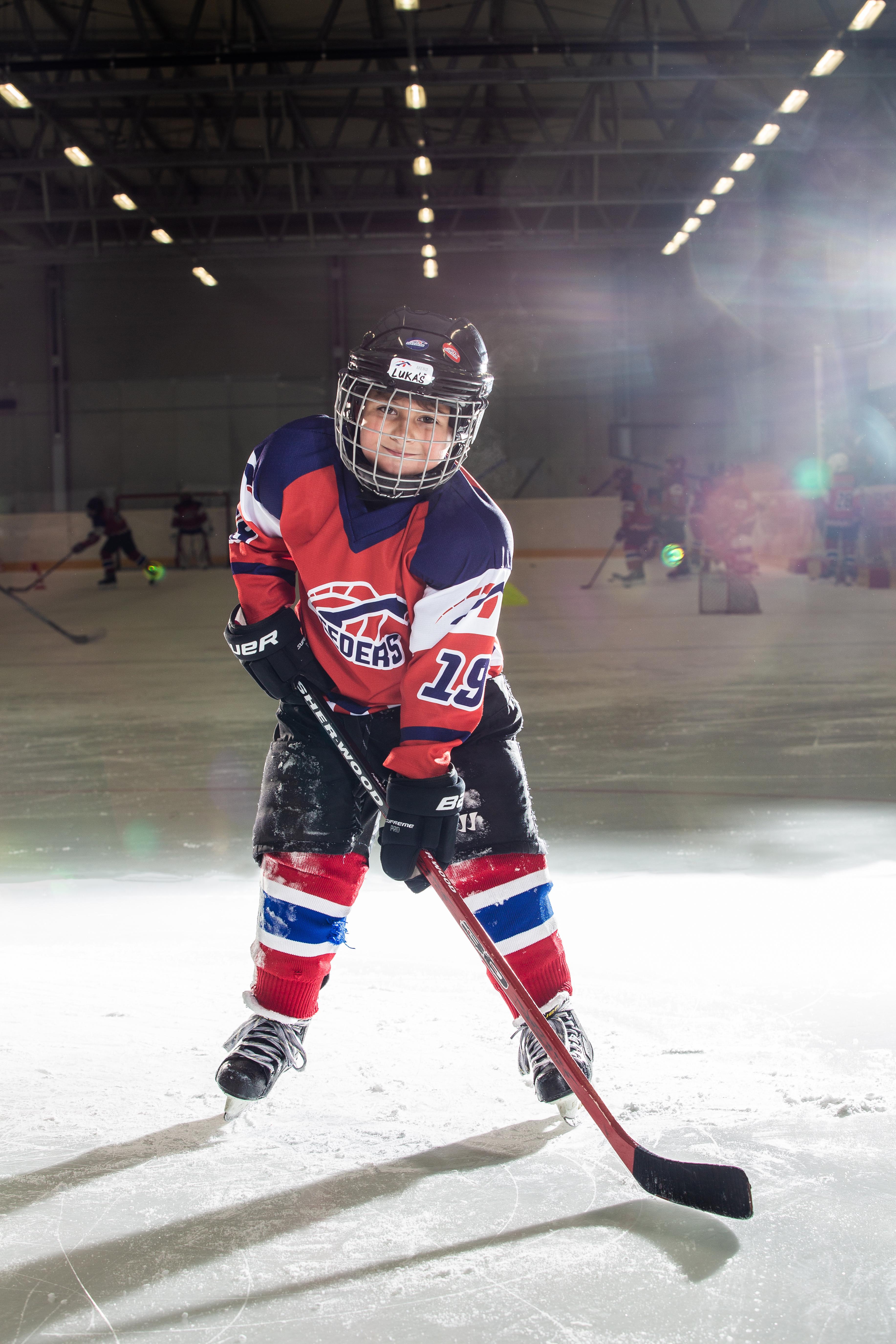 Lukas Hrbek Speeders Bratislava cislo 31 hokej